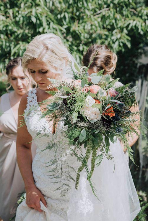 Bride in Lace Mori Lee Wedding Dress   Wedding Weekend at West Lexham Manor, Norfolk   Megan Duffield Photography