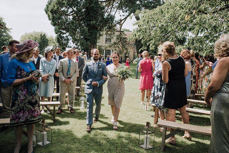 Outdoor Wedding Ceremony   Wedding Weekend at West Lexham Manor, Norfolk   Megan Duffield Photography