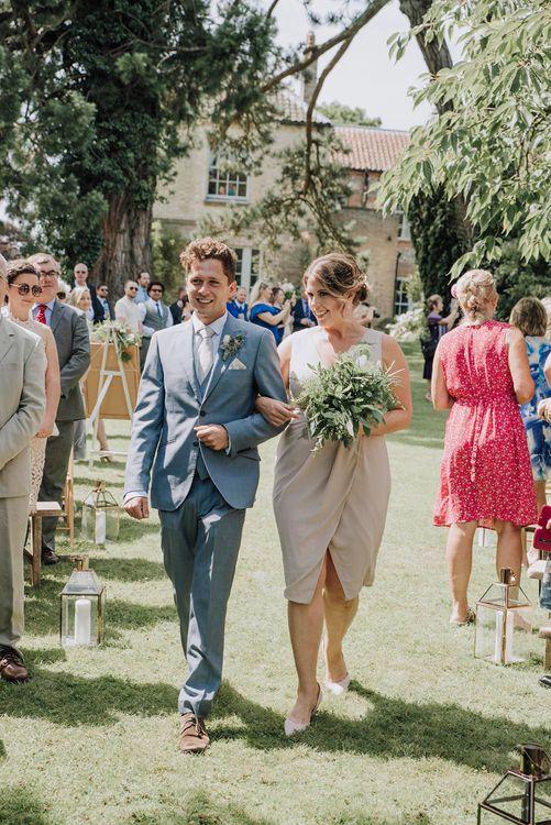 Outdoor Wedding Ceremony   Bridesmaid & Groomsman Entrance   Wedding Weekend at West Lexham Manor, Norfolk   Megan Duffield Photography