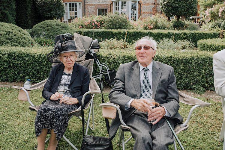 Grandparents Wedding Guests   Wedding Weekend at West Lexham Manor, Norfolk   Megan Duffield Photography