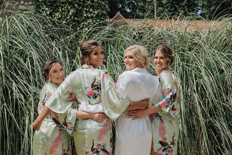 Matching Bridal Party Getting Ready Robes   Wedding Weekend at West Lexham Manor, Norfolk   Megan Duffield Photography
