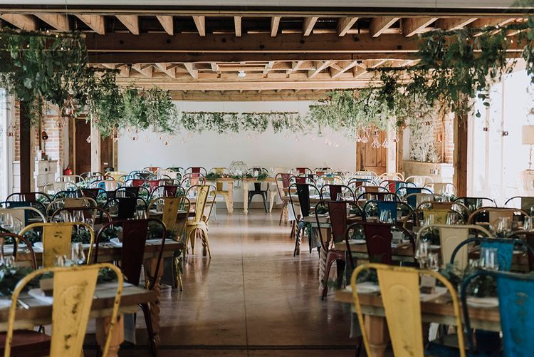 Industrial Styling in Rustic Setting   Wedding Reception Decor   Wedding Weekend at West Lexham Manor, Norfolk   Megan Duffield Photography
