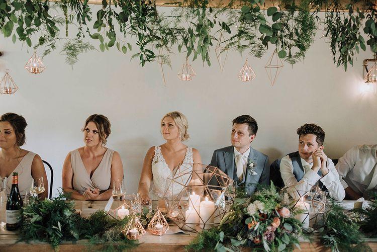 Wedding Reception Speeches   Bride in Mori Lee Wedding Dress   Groom in Light Grey Moss Bros Suit   Wedding Weekend at West Lexham Manor, Norfolk   Megan Duffield Photography
