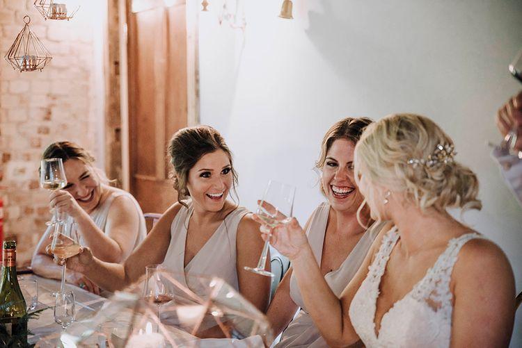 Wedding Reception Speeches   Bridesmaids in Pink TFNC Dresses   Wedding Weekend at West Lexham Manor, Norfolk   Megan Duffield Photography