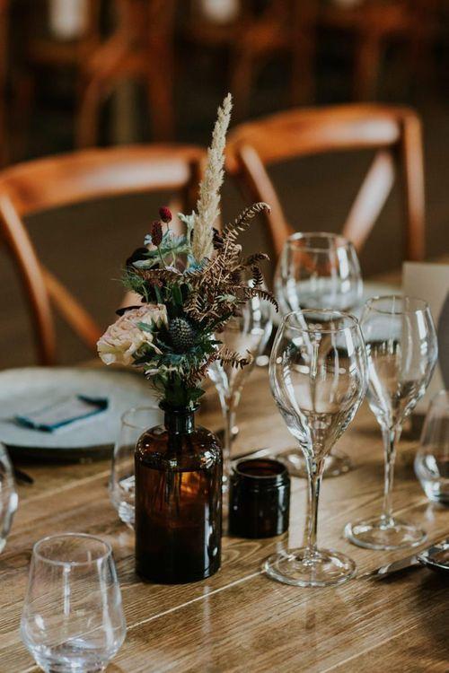 Wildflower wedding table decor