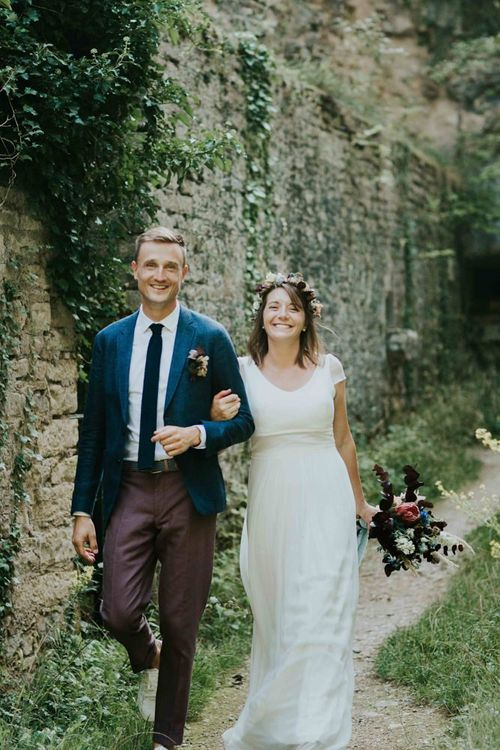 Bride and groom at French wedding
