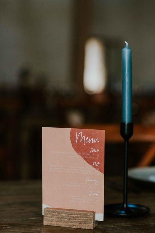 Pink wedding stationery design