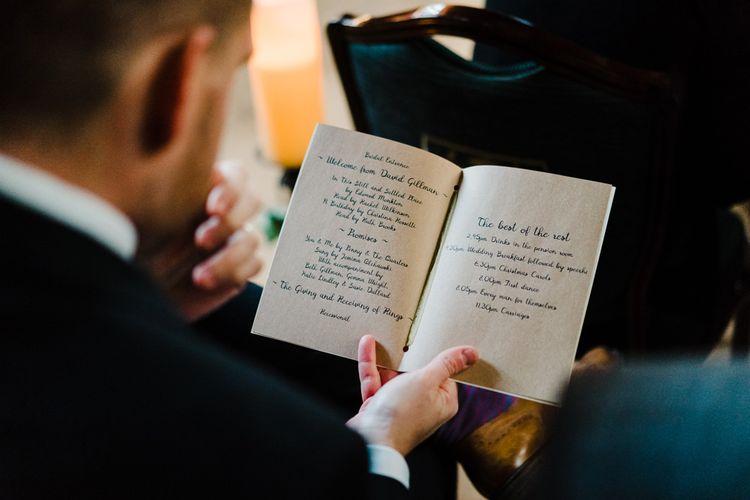 Becky Bygone Nativity Themed Wedding Stationery | Candle Lit Christmas Wedding at Gray's Inn London with Christmas Carols & Festive Wreaths | John Barwood Photography
