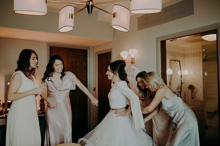 Bridal Party Wedding Morning Preparations