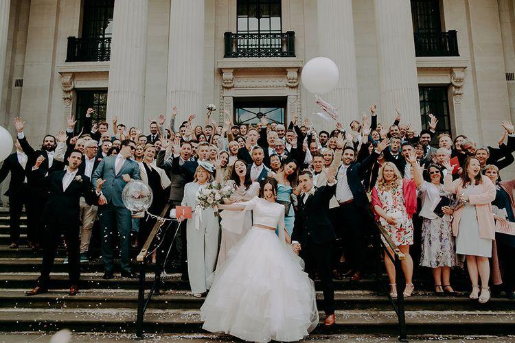 Wedding Guests Group Portrait