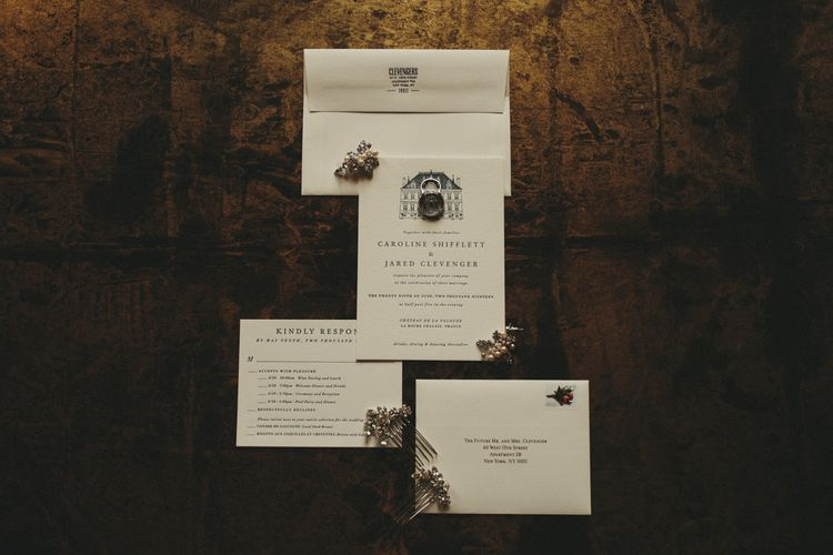 Wedding stationery for classic celebration
