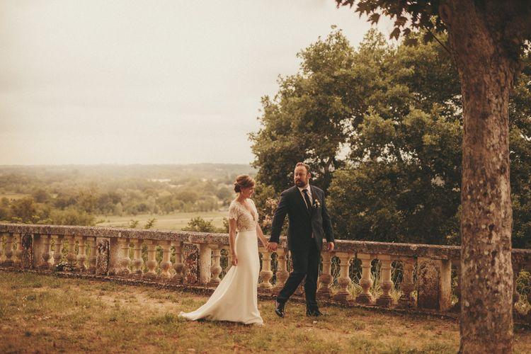 Beautiful views at French chateau wedding