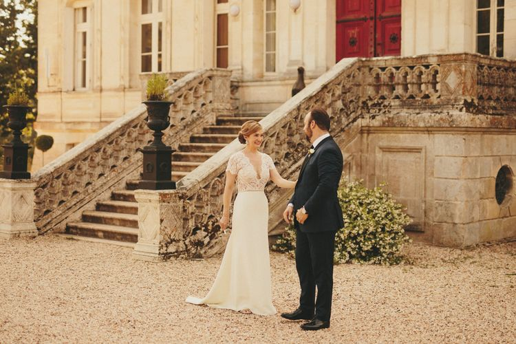 First look at French wedding