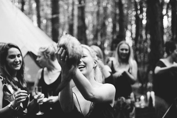 Wedding Morning Bridal Preparations | Burgundy Outdoor Woodland Ceremony & Country Tipi & Horse Bar Reception at The Ancient Woodland, Hertfordshire, Planned & Styled by Caroline Hitchcock Events | Alex Wysocki Photography | DgtlCouture Film