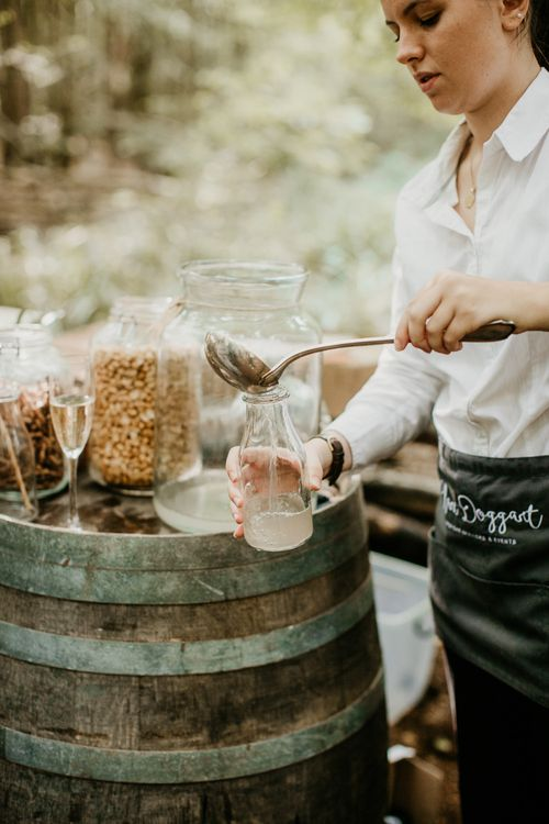 Wedding Cocktail | Burgundy Outdoor Woodland Ceremony & Country Tipi & Horse Bar Reception at The Ancient Woodland, Hertfordshire, Planned & Styled by Caroline Hitchcock Events | Alex Wysocki Photography | DgtlCouture Film