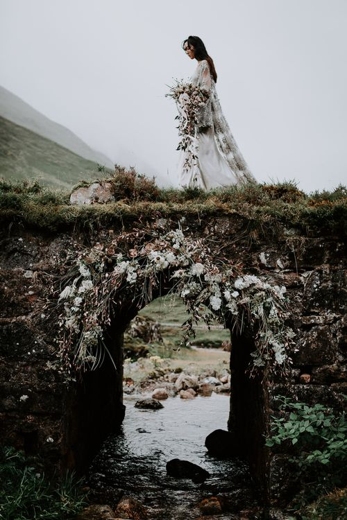 Romantic Floral Arch by Heavenly Blooms | Celestial Vale Scottish Highlands Inspiraiton | Heavenly Blooms | Bonnie Jenkins Photography