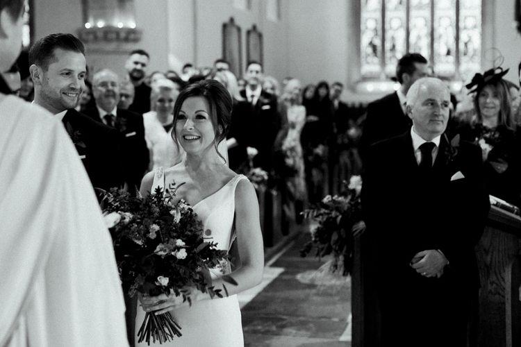 Church Bridal Entrance in Essense of Australia Wedding Dress