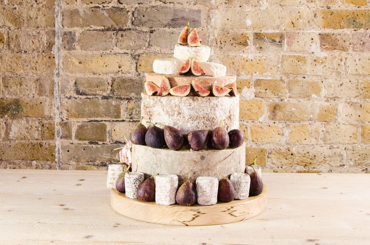 Cheese Tower From Neal's Yard Dairy  // How To Create The Perfect Wedding Cheese Tower