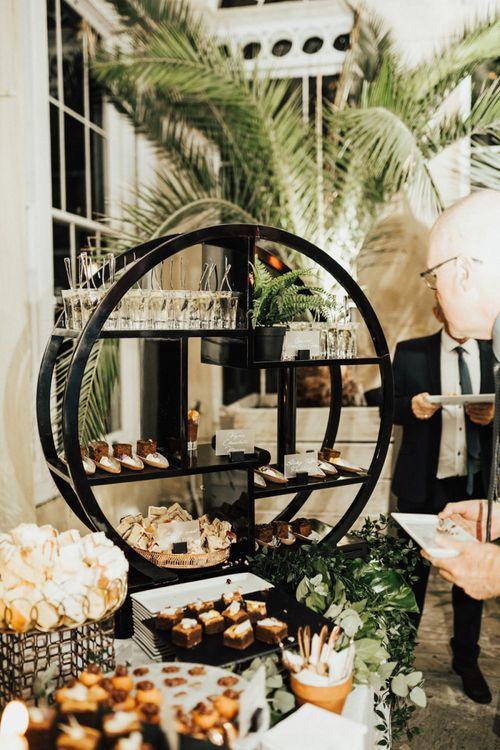 Elegant Wedding Dessert Table with Bitesized Treats