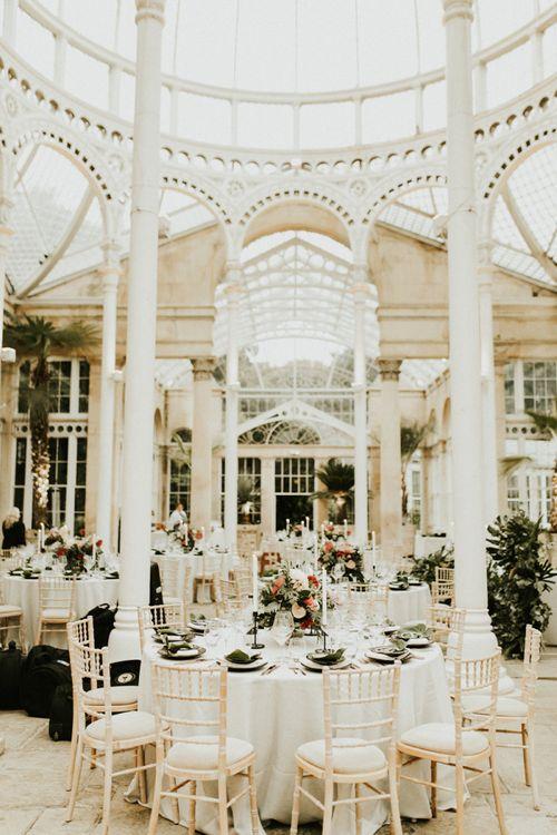 Syon Park Orangery Wedding Reception Decor