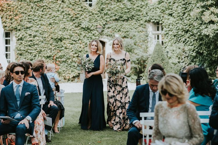 Off The Shoulder Bridesmaids Dresses In Midnight Ink Colour