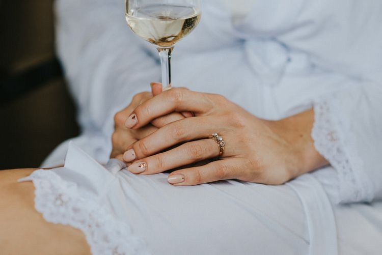 Pale Pink Manicure For Wedding