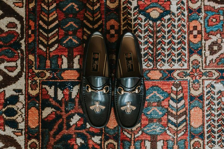 Gucci 'Bee' Loafers For Groom