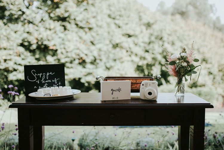 Guest Book With Polaroid Camera