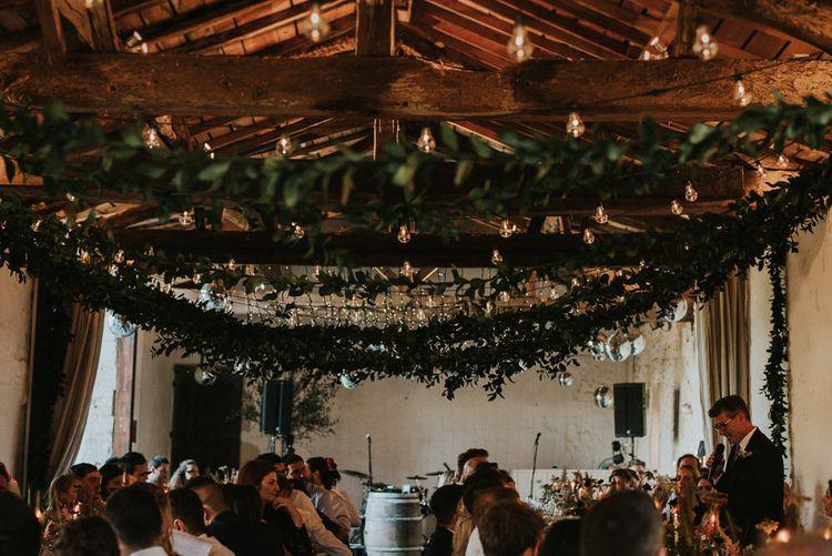 Hanging Foliage Garlands For Wedding Reception