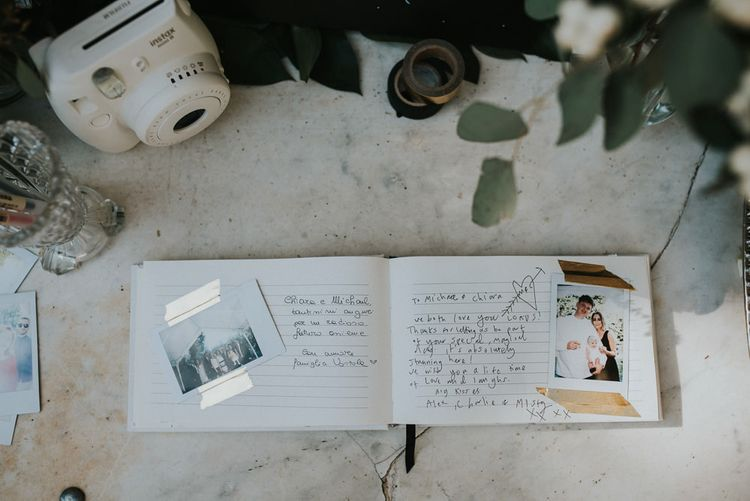 Guest Book With Polaroids For Wedding
