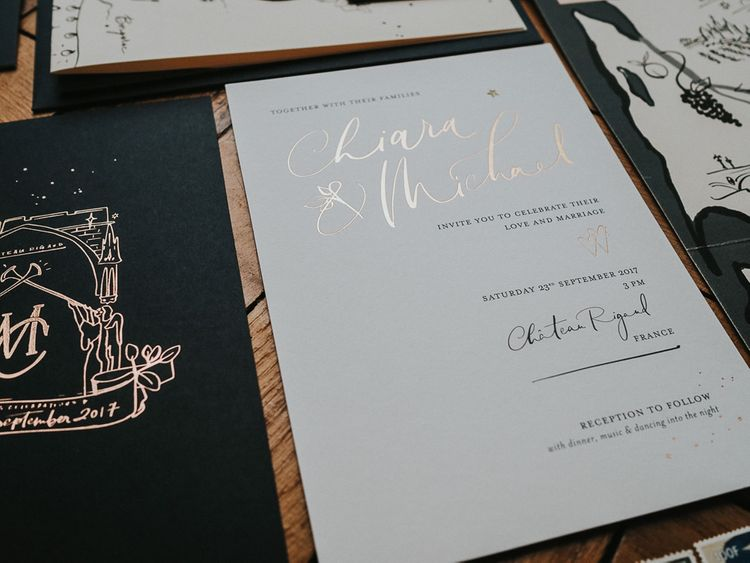 Bespoke Handwritten Stationery And Signage For Wedding By Lamplighter London