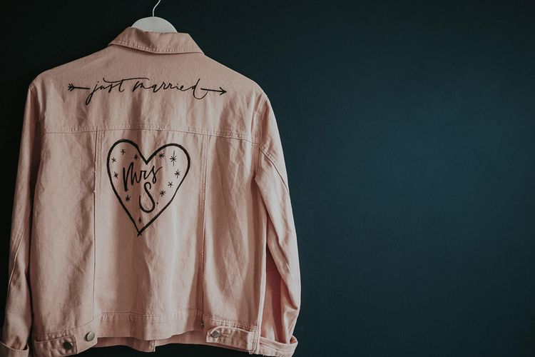 Peach 'Mrs S' Jacket For Bride