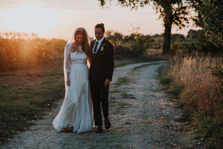 Bride In Catherine Deane Separates