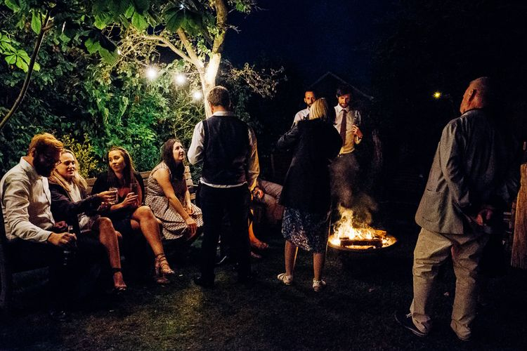 Festoon Lights | Fire Pits | Bright DIY 'At Home' Outdoor Garden Ceremony & Marquee Reception | Marianne Chua Photography