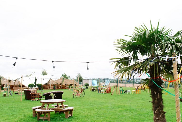 Fun Stretch Tent Reception on Primary School Field in Sheffield |  Tub of Jelly Photography