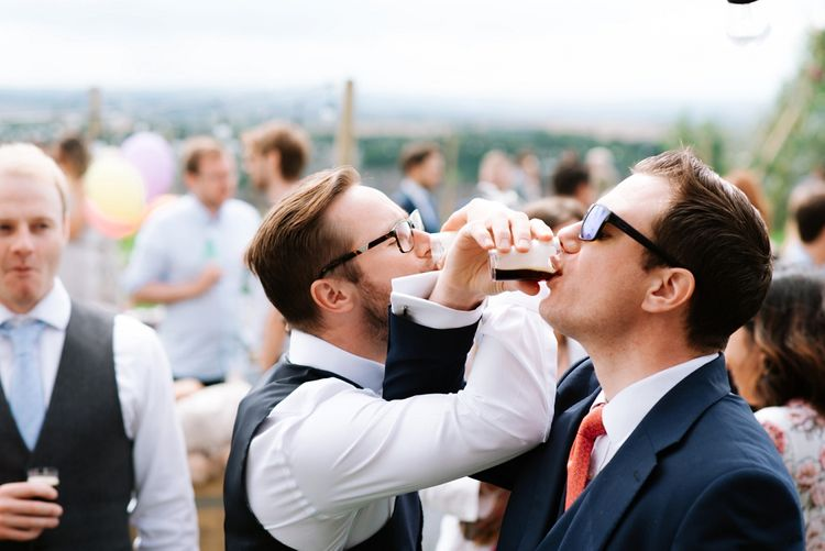 Wedding Guests | Fun Stretch Tent Reception on Primary School Field in Sheffield |  Tub of Jelly Photography