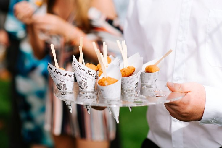 Fish & Chips Cones | Fun Stretch Tent Reception on Primary School Field in Sheffield |  Tub of Jelly Photography