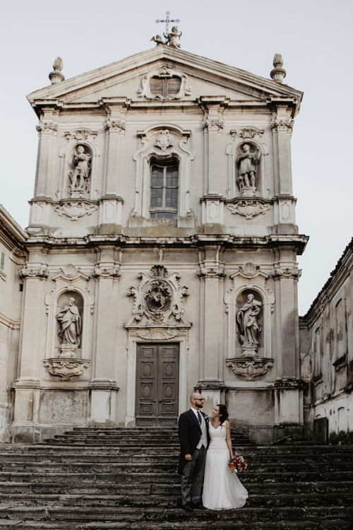 Beautiful couple at beautiful Italian wedding