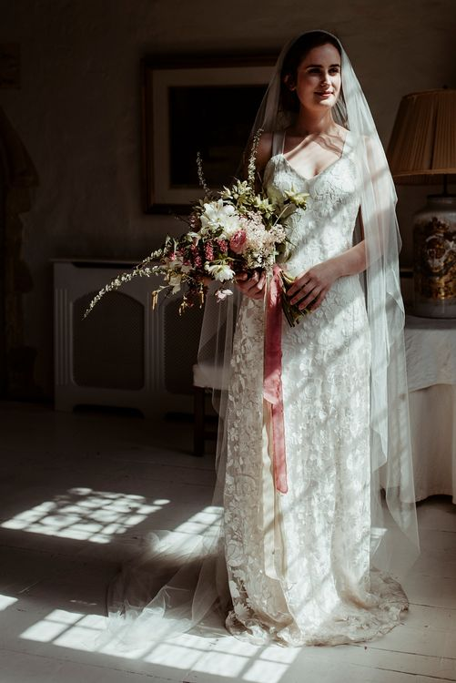 Wedding Morning Bridal Preparations | Bride in Half Penny London Gown & Veil | Classical Springtime Romance Inspiration at Butley Priory by Brown Birds Weddings | Jess Soper Photography