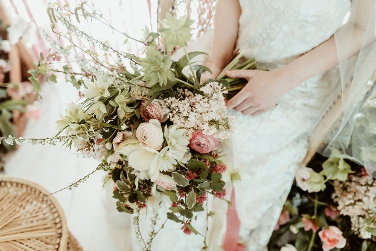 Romantic Floral Bouquet | Classical Springtime Romance Inspiration at Butley Priory by Brown Birds Weddings | Jess Soper Photography