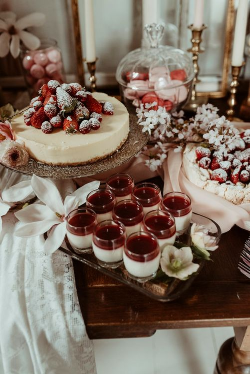 Blush Pink Dessert Table | Classical Springtime Romance Inspiration at Butley Priory by Brown Birds Weddings | Jess Soper Photography