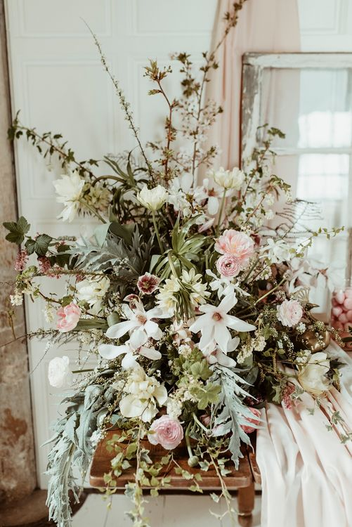Floral Arrangement by  The Country Garden Flower Company | Classical Springtime Romance Inspiration at Butley Priory by Brown Birds Weddings | Jess Soper Photography