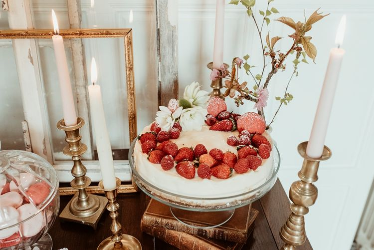 Cheesecake | Classical Springtime Romance Inspiration at Butley Priory by Brown Birds Weddings | Jess Soper Photography
