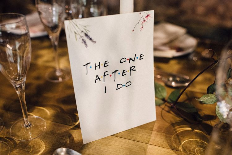 Friends wedding table names