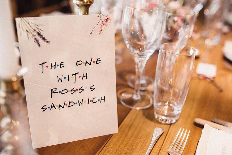 TV Show wedding table names