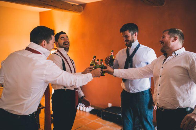 Groomsmen Cheers To Wedding Morning