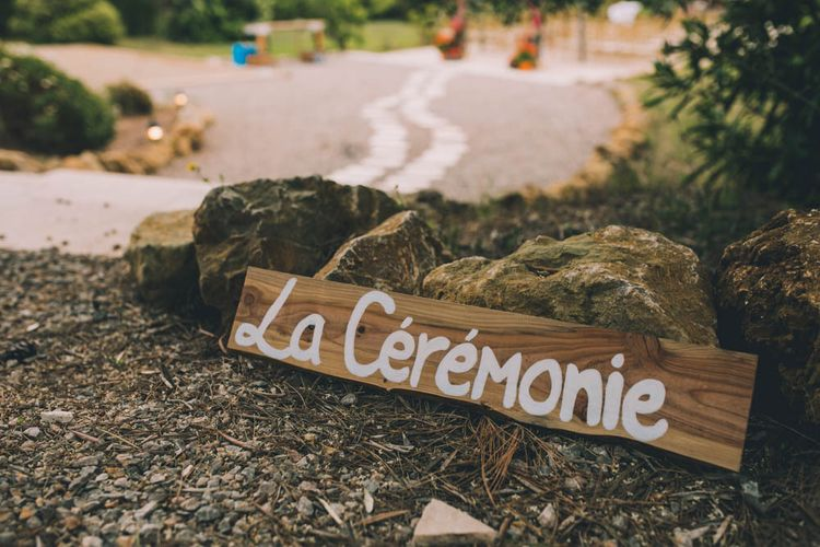 Wooden Wedding Sign For French Wedding