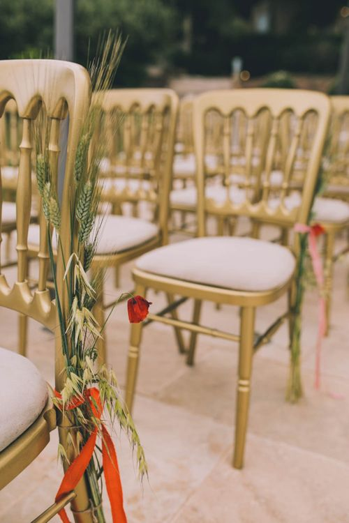 Wedding Chair Decor With Flowers