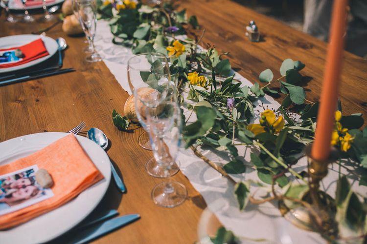 Table Set Up For Outdoor Wedding Breakfast