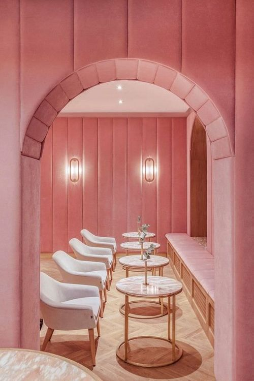 Colour Blocking // All Pink Interiors // Image Via Pinterest